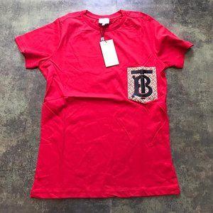 Burberry London Casual T-shirt Men's %95 Cotton